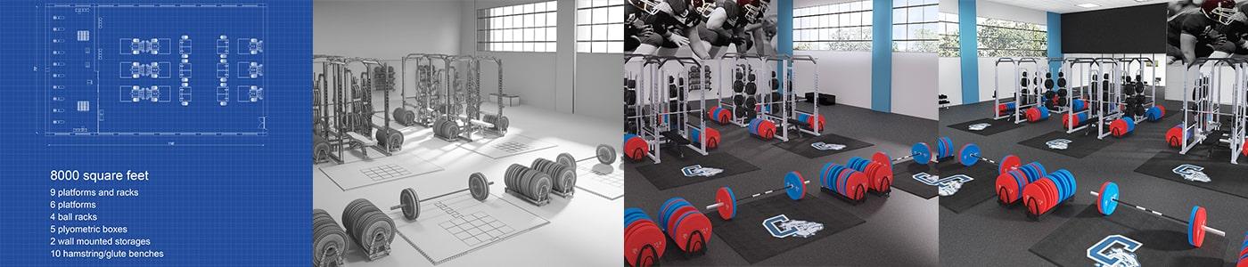 New Index American Platforms - Weight room design