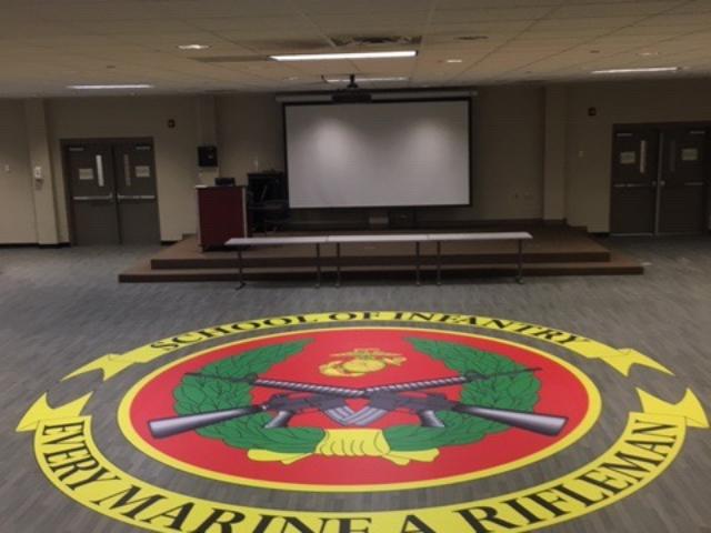 Custom Military U.S. Marine Corps School of Infantry Floor Logo