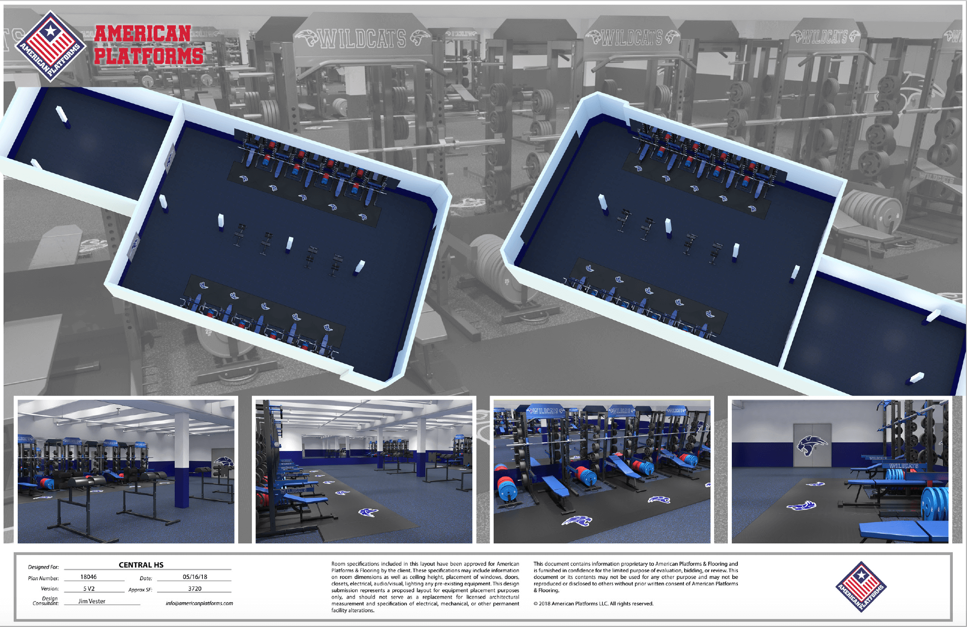 Central High School Weight Room Layout and Design